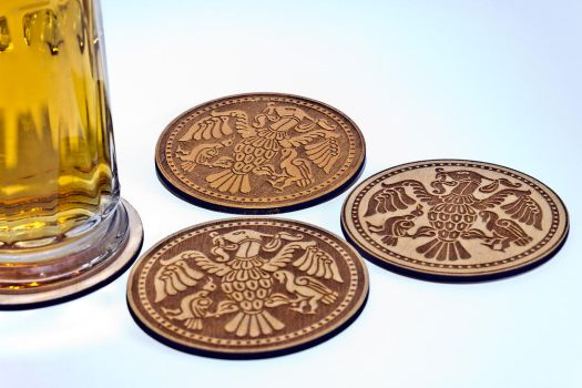 Wood Beer Mat by WoodBoxEdition