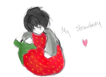 L's strawberry :3 by Stormehluff