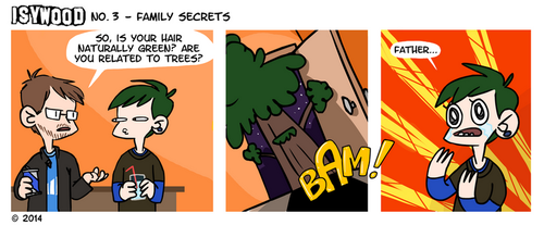 ISYWOODSTRIP No. 3 - Family Secrets by isagross
