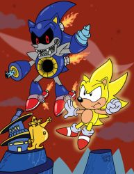 Super Sonic vs Death Metal by SlySonic