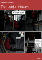 Wedged In Trouble #1 - The Ladder Matters Page 4 by Volupteer