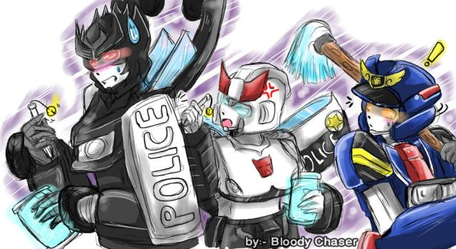 police officeres mechas by BloodyChaser