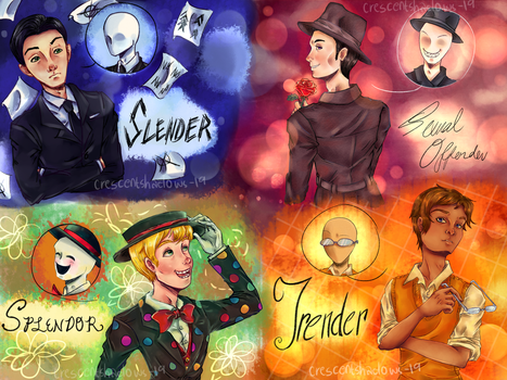 Humanized Slender Brothers by crescentshadows19