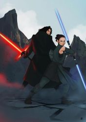 Kylo and Ren by TheEtarian