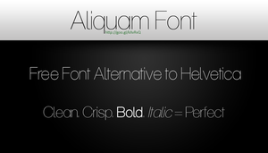 Aliquam Font - Free Alternative Font for Helvetica by eds-danny
