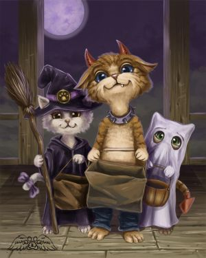 Treat Cats by PawWingsArt