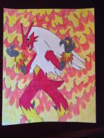 Blaziken  by Jonesydragon