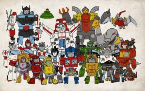 'Little' Autobots by darrenrawlings