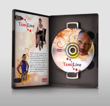 TamiLive DVD Label mockup by jlampley