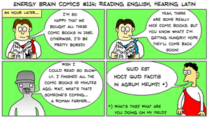 EBC #114: Reading English, Hearing Latin by EnergyBrainComics