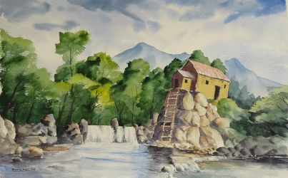 old mill by bkiani