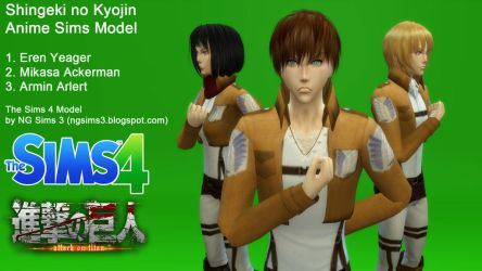 Attack on Titan - TS4 Sims Model Download by ng9