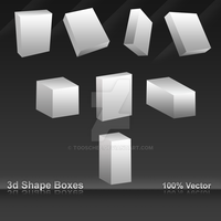 3D Shape boxes by Tooschee