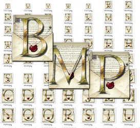 Steampunk Letters Iconset in Bitmap format by yereverluvinuncleber