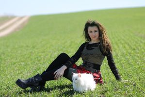 With white cat 09 by Anna-LovelyMonster