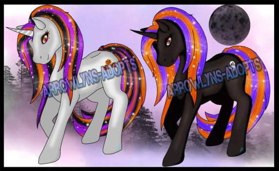 Halloween ponies-Closed by Winter-Angel-Adopts