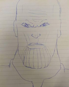 Thanos doodle by EJTangonan