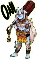 Oni Girl Adoptable   Auction [ Close ] by DesArt17