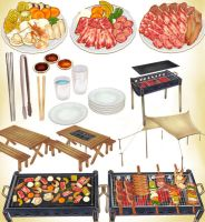 MMD BBQ FOOD PACK PLUS ACCESSORIES by Hack-Girl