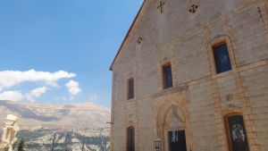 Church in Front of Mountains by AnonymousRabbitLover