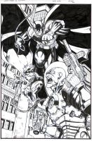 Batman and Robin take on Mr.Freeze - Inks by SurfTiki