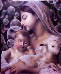 Madonna with Child n little lamb by AdelphoiA3