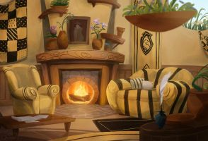 Hufflepuff Common Room by TofuSlaw