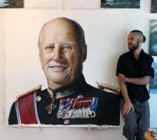 Large Pencil drawing of the King from Norway by AtomiccircuS