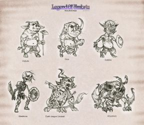 LouSB: monsters set 1 by Wen-M
