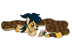 Mystic Mirage Reads A Book by Hypnopony