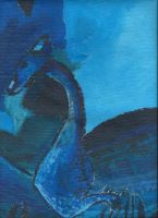 Monochromatic Painting- Saphira from Eragon by FreeingMyAngelWings