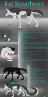 Kat Spearheart Reference Sheet 2015 -revamp- by Toastpocalypse
