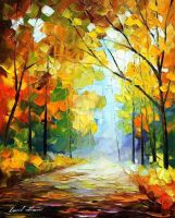 The Pathway To Heaven by Leonid Afremov by Leonidafremov