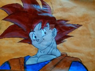Goku Red by beyoncerules