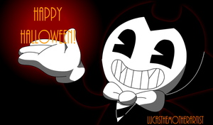 Happy Halloween Bendy! by LucasTheMotherArtist