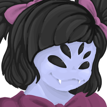 Muffet digital painting (wip..?) by AsiianShark