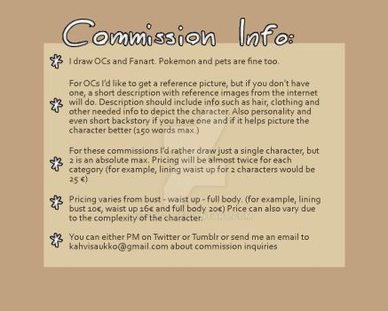 Commission Info by Seiga
