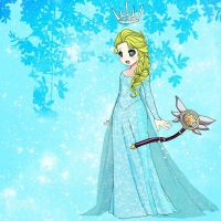 Tried to make Star Butterfly as Elsa by Blaria95