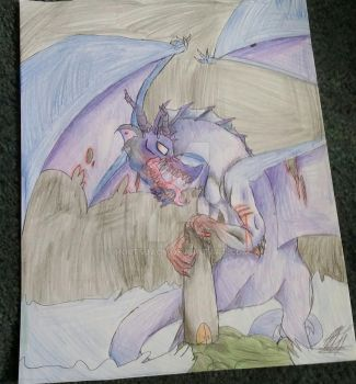 my aunt wanted me to draw her a dragon sooo by HoiitsJack