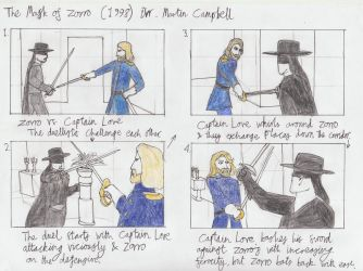 The Mask of Zorro storyboard 1 by toht981