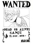 Sanji - Black and White by Mey-Su