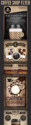 Coffee Shop Promotion Flyer Template Bundle by Hotpindesigns