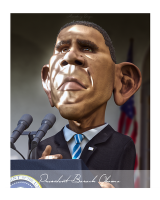 Barack Obama by electrofilms