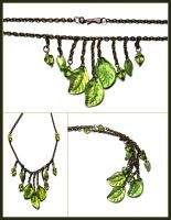 Leafy Fringe Necklace by aelthwyn