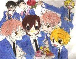 Ouran Host Club Colored by magnumkiyoshi