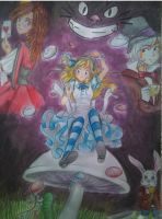 alicia in the wonderland color xD by marosar