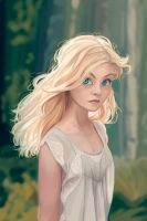 Girl in the forest by Nairim-dA