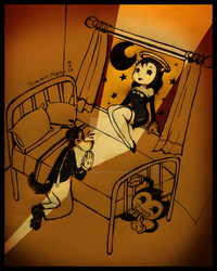 Bendy in A Wolf's Dilemma by SolanxPsychopathic