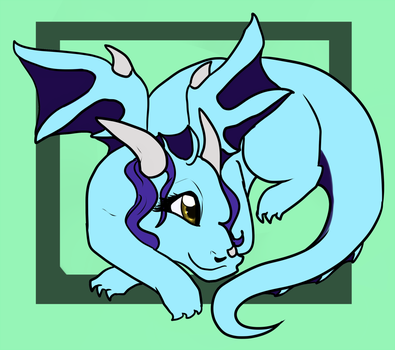Cute Blue Dragoness (by GhoulHound) by GioSpy