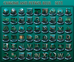 petrol blue and chrome  set 1 by xylomon